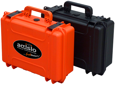actisio Flightcase: ergonomisch, robust, orange